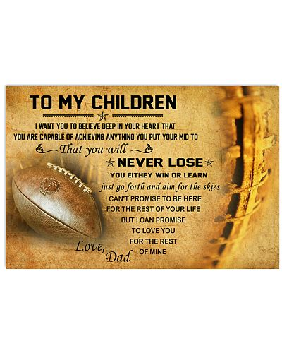 TO MY CHILDREN - football