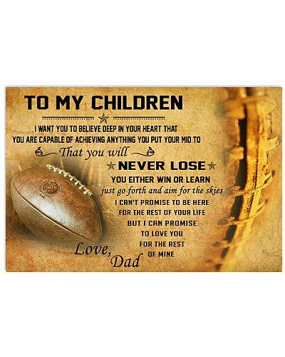 TO MY CHILDREN - football - CT