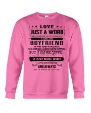 LOVE- BOYFRIEND- H12 Crewneck Sweatshirt thumbnail