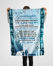"""To my granddaughter ever forget that i love you Small Fleece Blanket - 30"""" x 40"""" aos-coral-fleece-blanket-30x40-lifestyle-front-14"""