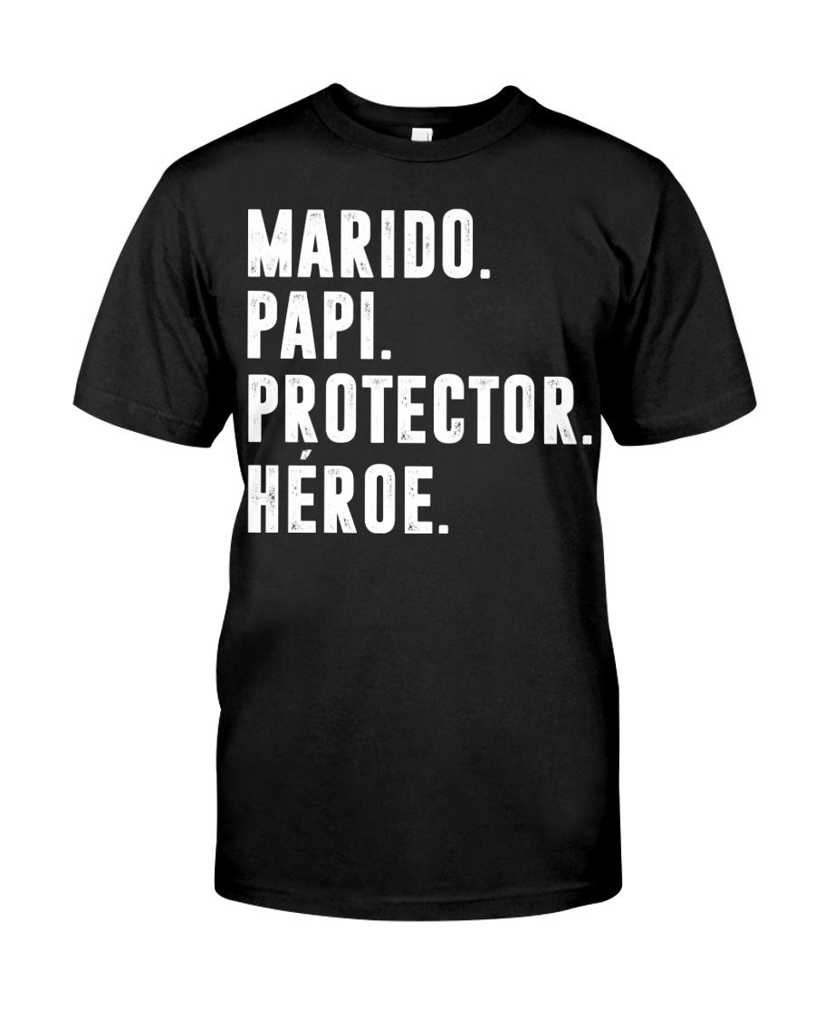 Husband - Daddy - Protector - Hero - Q-TBN Classic T-Shirt