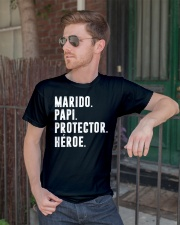 Husband - Daddy - Protector - Hero - Q-TBN Classic T-Shirt lifestyle-mens-crewneck-front-2