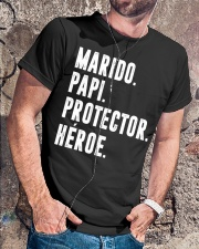 Husband - Daddy - Protector - Hero - Q-TBN Classic T-Shirt lifestyle-mens-crewneck-front-4