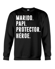Husband - Daddy - Protector - Hero - Q-TBN Crewneck Sweatshirt thumbnail