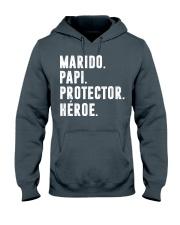 Husband - Daddy - Protector - Hero - Q-TBN Hooded Sweatshirt thumbnail
