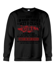 Sexy and Crazy girl - she was born in August Crewneck Sweatshirt thumbnail