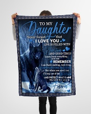 """To my daughter never forget that i love you gift Small Fleece Blanket - 30"""" x 40"""" aos-coral-fleece-blanket-30x40-lifestyle-front-14"""