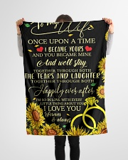 "To my wife - once upon a time i became ypurs Small Fleece Blanket - 30"" x 40"" aos-coral-fleece-blanket-30x40-lifestyle-front-14"