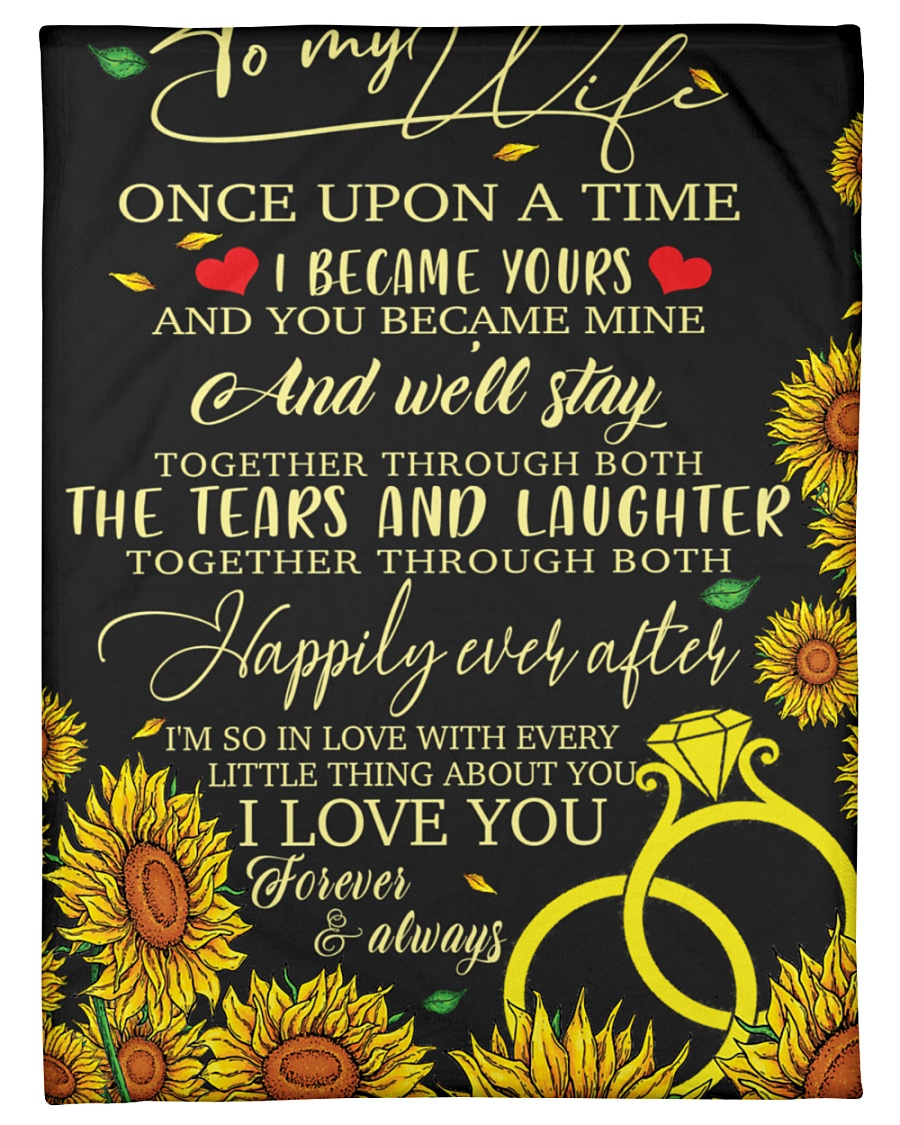 "To my wife - once upon a time i became ypurs Small Fleece Blanket - 30"" x 40"""