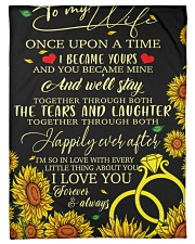 "To my wife - once upon a time i became ypurs Small Fleece Blanket - 30"" x 40"" front"