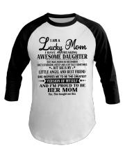 Perfect gift for Mom - Lucky Mom- December Baseball Tee thumbnail