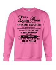 I am a Lucky Mom- Awesome Daughter- Kun 08 Crewneck Sweatshirt thumbnail