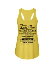 I am a Lucky Mom- Awesome Daughter- Kun 04 Ladies Flowy Tank thumbnail