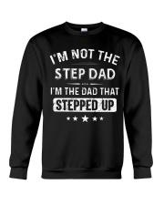 GO - STEP DAD - milk Crewneck Sweatshirt thumbnail