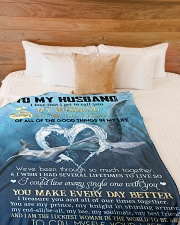 """My husband you are my source perfect gift for him Large Fleece Blanket - 60"""" x 80"""" aos-coral-fleece-blanket-60x80-lifestyle-front-02"""