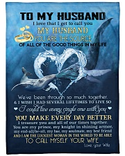 """My husband you are my source perfect gift for him Large Fleece Blanket - 60"""" x 80"""" front"""
