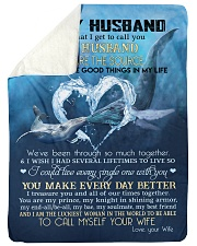 """My husband you are my source perfect gift for him Large Sherpa Fleece Blanket - 60"""" x 80"""" thumbnail"""