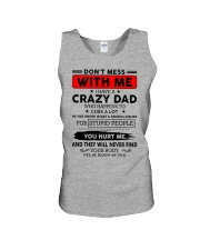 Do not mess with me - i have crazy dad Unisex Tank thumbnail