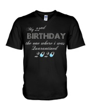 My 22nd birthday the one where i was quarantined V-Neck T-Shirt thumbnail