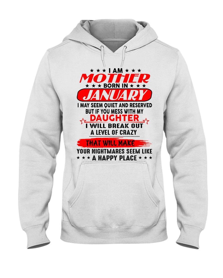 I am a spoiled MOM - DAD January  Hooded Sweatshirt
