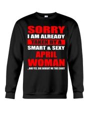 I am already taken by April Woman - CT04 Crewneck Sweatshirt thumbnail