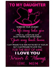 TO MY DAUGHTER - LOVE - MOM 11x17 Poster front