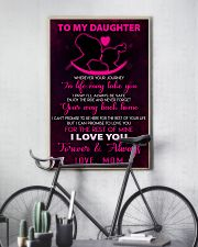 TO MY DAUGHTER - LOVE - MOM 11x17 Poster lifestyle-poster-7