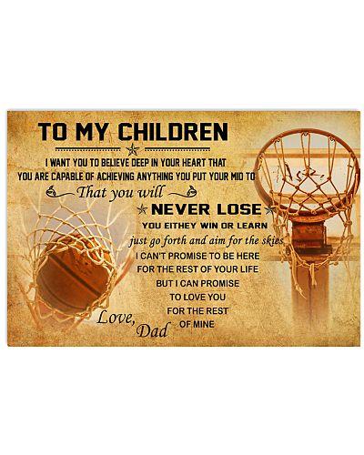 TO MY CHILDREN - basketball