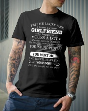 I have crazy GIRLFRIEND - She was born in October Classic T-Shirt lifestyle-mens-crewneck-front-6