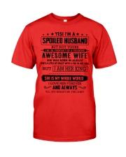 spoiled husband - august Premium Fit Mens Tee thumbnail