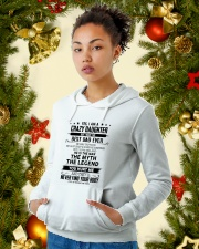 I'm crazy daughter i have the best dad ever gift Hooded Sweatshirt lifestyle-holiday-hoodie-front-4