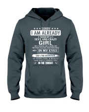 Sorry - I'm already taken by a sexy and crazy girl Hooded Sweatshirt thumbnail