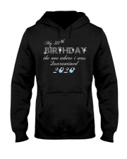 My 50th birthday the one where i was quarantine Hooded Sweatshirt tile