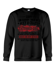 sexy and crazy tattooed girl Crewneck Sweatshirt thumbnail
