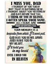 I miss you Dad 11x17 Poster front