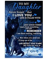 To my daughter my love for you is forever gift 11x17 Poster front