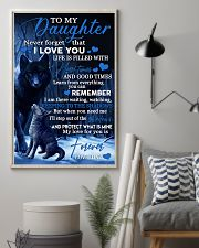 To my daughter my love for you is forever gift 11x17 Poster lifestyle-poster-1