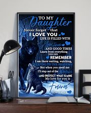 To my daughter my love for you is forever gift 11x17 Poster lifestyle-poster-2