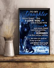 To my daughter my love for you is forever gift 11x17 Poster lifestyle-poster-3