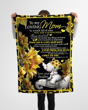 """To my mom T4-70 Small Fleece Blanket - 30"""" x 40"""" aos-coral-fleece-blanket-30x40-lifestyle-front-14"""