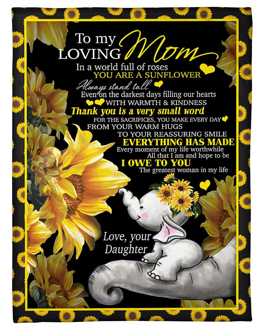 "To my mom T4-70 Small Fleece Blanket - 30"" x 40"""