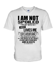 Perfect gifts for Husband- Not Spoiled- 00 V-Neck T-Shirt thumbnail