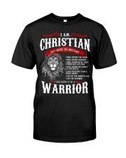 Warrior Christian Classic T-Shirt front