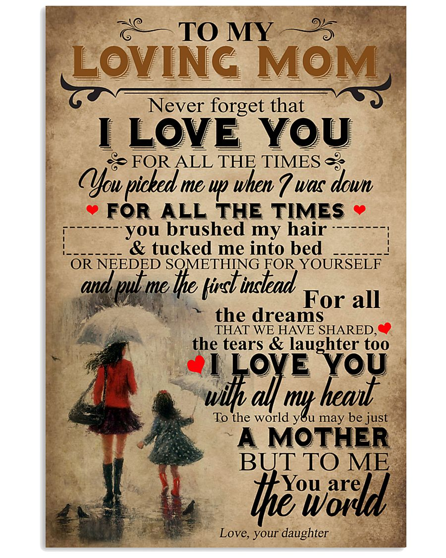 To My Mom 24x36 Poster