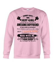 Gifts for Girlfriend: Have a awesome boyfriend- 11 Crewneck Sweatshirt thumbnail