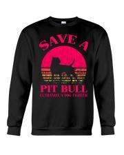 Save A Pit Bull Euthanize A Dog Fighter - C Crewneck Sweatshirt thumbnail