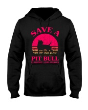 Save A Pit Bull Euthanize A Dog Fighter - C Hooded Sweatshirt thumbnail