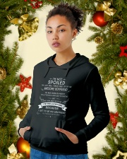 I'M NOT SPOILED - I HAVE AN AWESOME BOYFRIEND - 03 Hooded Sweatshirt lifestyle-holiday-hoodie-front-4