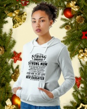 I'm a strong daughter because i have strong mom Hooded Sweatshirt lifestyle-holiday-hoodie-front-4