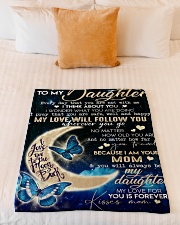 "Special gift for your daughter  Small Fleece Blanket - 30"" x 40"" aos-coral-fleece-blanket-30x40-lifestyle-front-04"
